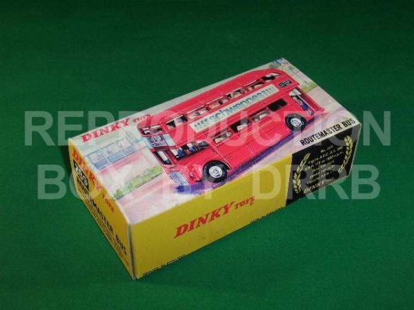 Dinky #289 Routemaster Bus - Reproduction Box ( Red - Schweppes -  with street scene )